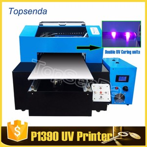For cup/bottle printing digital double led uv rotary flatbed printer