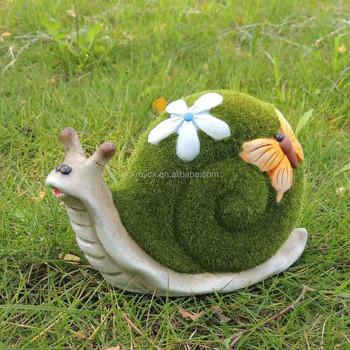 Résine Floqué Animal Jardin Décoration D\'escargot - Buy Décoration  D\'escargot De Jardin,Animal Floqué,Décoration D\'escargot En Résine Product  ...