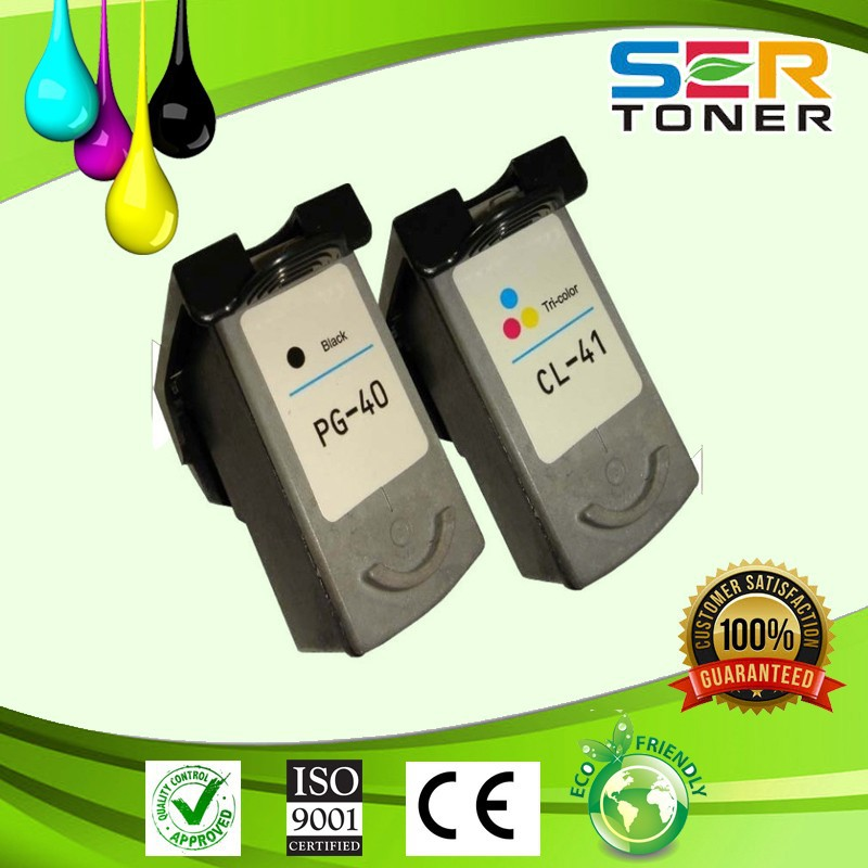 PG40 CL41 Ink Visible Remanufactured Ink Cartridge for Canon Cartridges 40 41