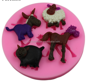 high quality wholesale goat silicone chocolate cake ice mould