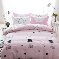 Dubai Stock Wholesale Flower Simple Design 100 % Cotton Flat Quilt Duvet Cover , Bed Sheet Set