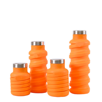 355ML 600ML Designed for TRAVEL and OUTDOOR BPA Free Lightweight Eco-Friendly Food Grade Collapsible Silicone Water Bottle