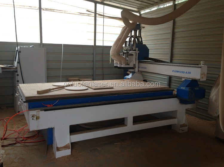 Philicam 4x8 ft cnc router with 3 heads automatic sofa making machine