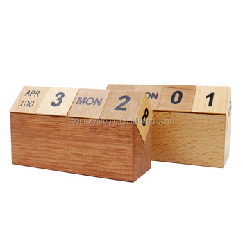 Log Wood Desk Calendar Block Wooden Perpetual Calendars Buy Wood