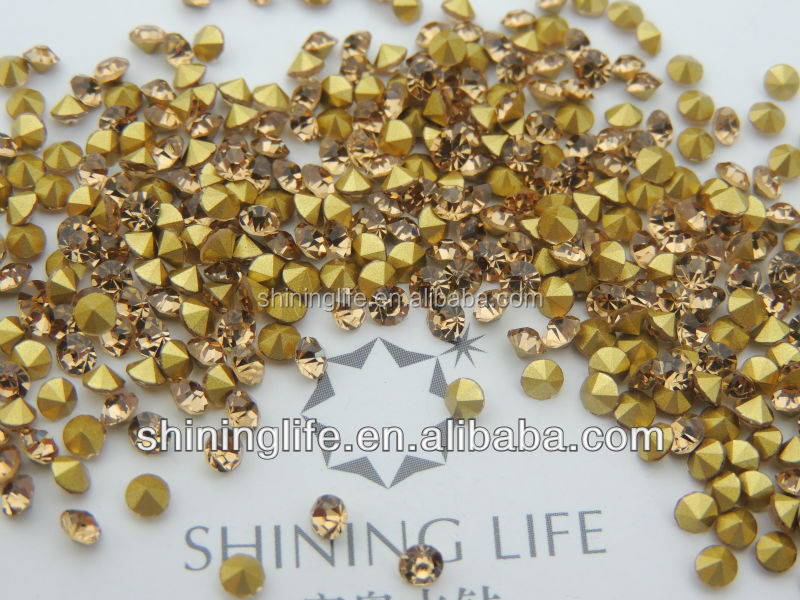 2016 new hot sale cloth accessory same like 888 rhinestone glass chaton