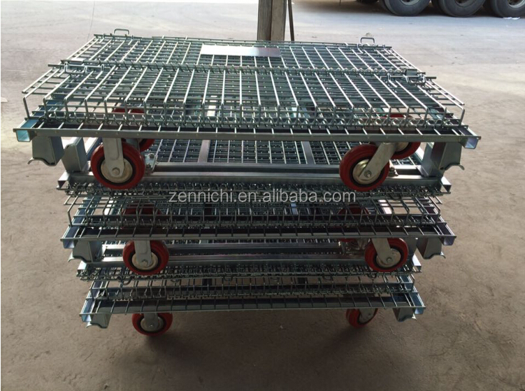 Mesh Wire Cages with Wheels/wire mesh basket