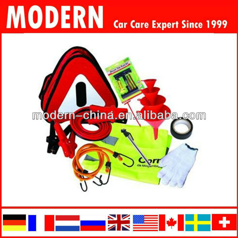Car Frist Aid Tool Kit with warning triangle