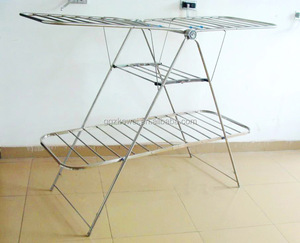 SS Folding Clothes Drying Racks With 3 layers Airers, Good Helper AT Laundry Cloth For Family. HL-5019C