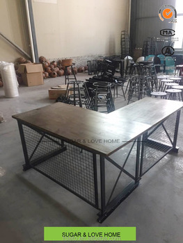 Loft Style Office Furniture Table L Shape Solid Pine Wood Product On Alibaba