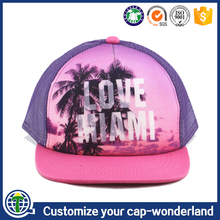 Chinese Supplier Custom 5 Panel Design Durags Polyester Mesh Dome Snap Back Caps Make America Great Again