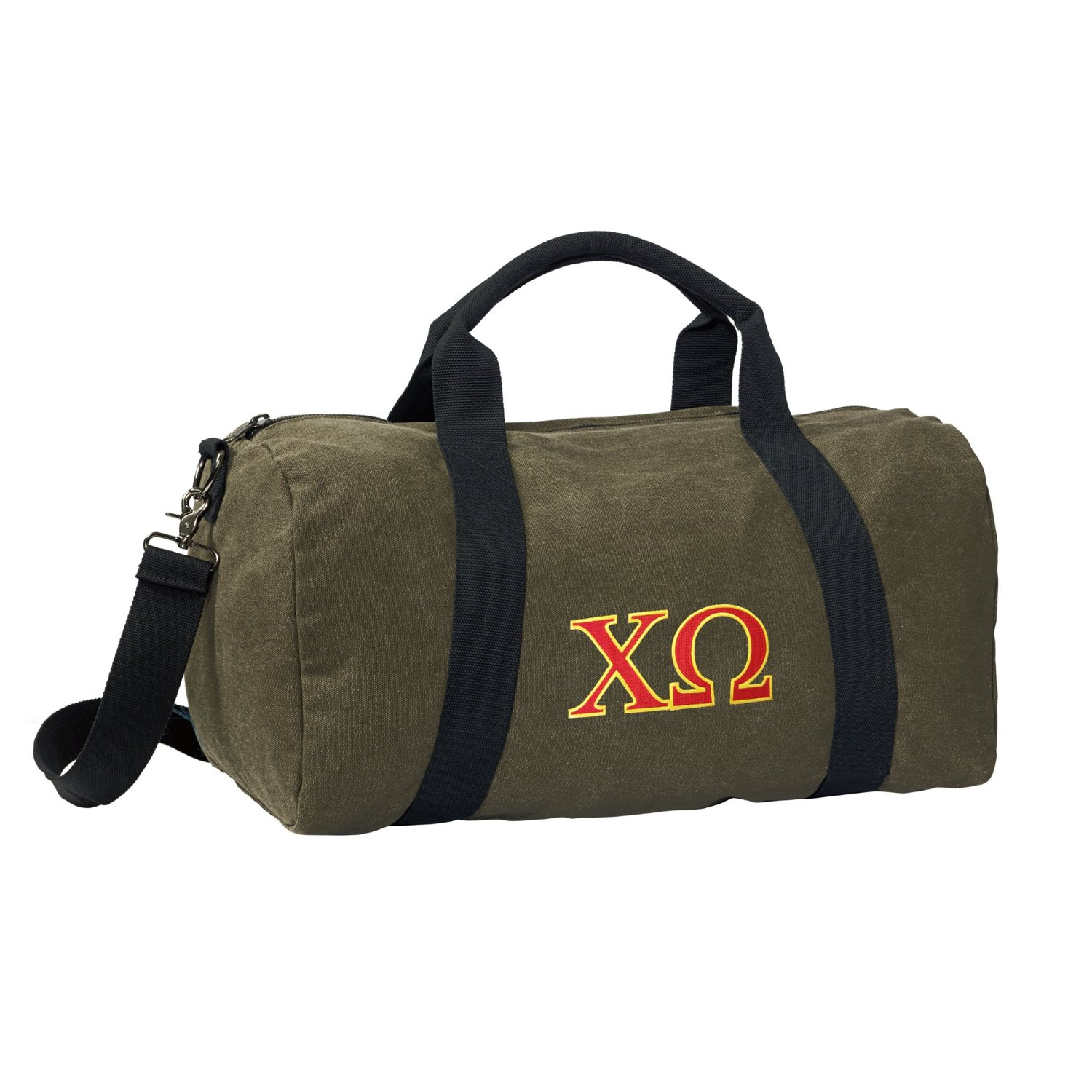 Chi Omega Duffle Bag or CANVAS Chi O Gym Bags