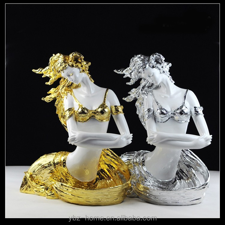 2015 A pair of lucky goddess indoor crafts environmental resin decoration festival gifts