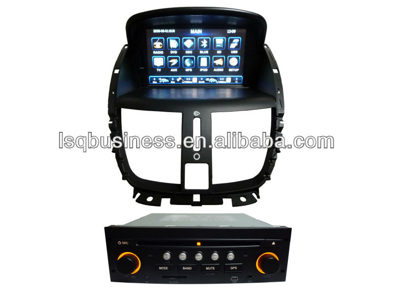 Car audio player for Peugeot 207 with DVD/USB/TV/ Radio/Music/touch screen,ST-2921