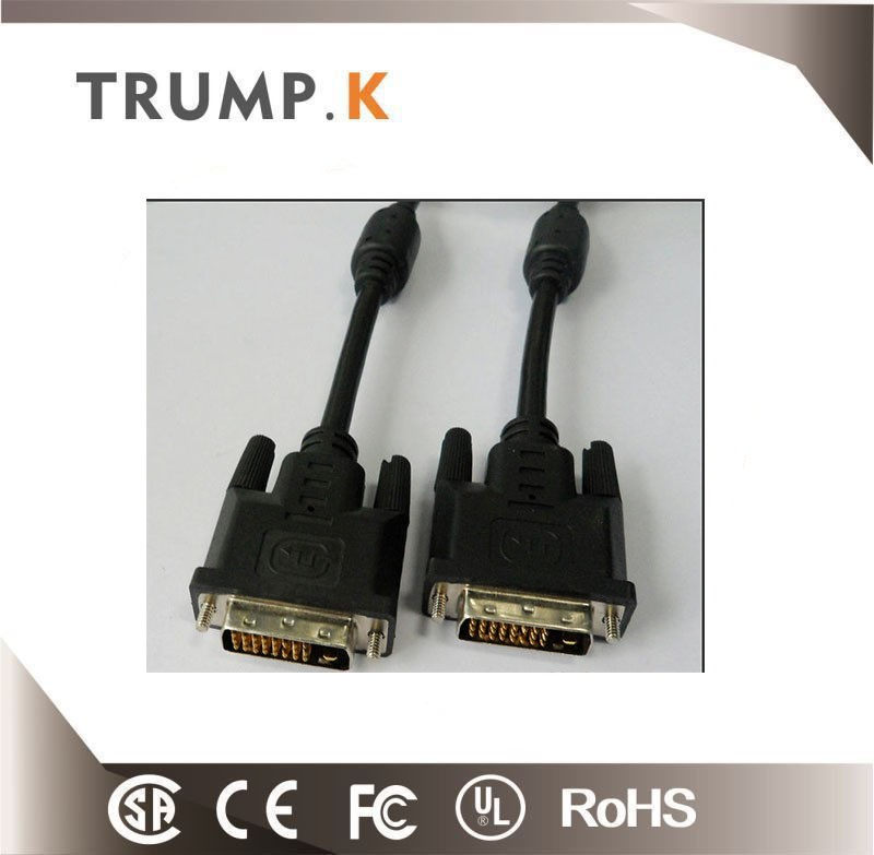 5m nylon brainded gold plated 24+1 dvi cable M 2 M high quality