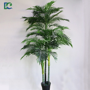 3 trunks 44 palm leaves Artificial Indoor Plants Artificial Palm Tree Leaves