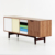 Family dining room furniture italian mid century art deco wooden sideboard cabinet