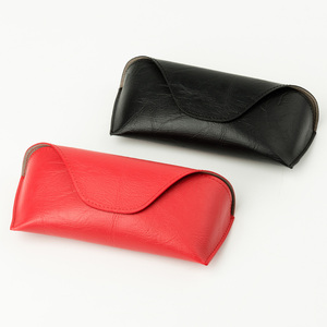 Red, Black PU magnetic glasses box sunglasses case