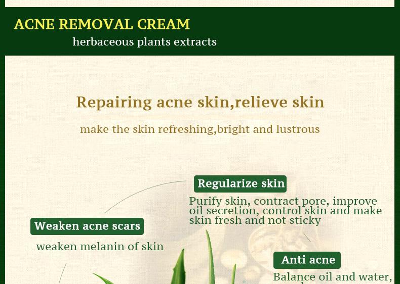 2020 haute rachat taux nourrissant à base de plantes formule de crème pour le visage pour les peaux acnéiques