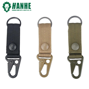 Tactical Key Ring Gear Nylon Key Keeper Keychain for Belt Webbing Attachment Strap