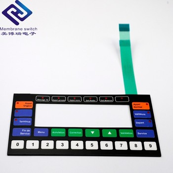 Colorful PET/PC Overlay Membrane Switch Keyboard For Leaning/Testing Machine
