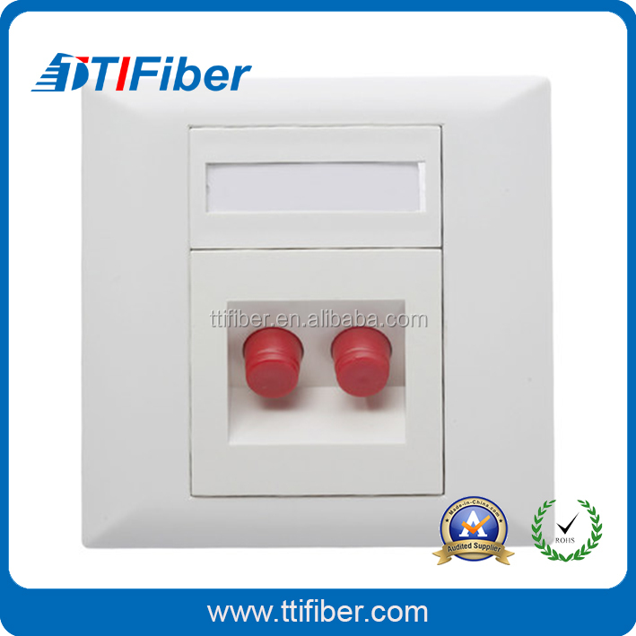 2 port FC simplex Style ftth Fiber Optic outlet / ftb