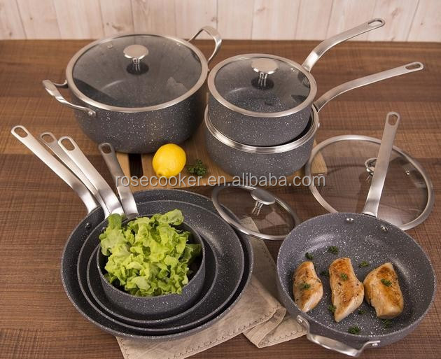 Cookware Set With Marble Coating