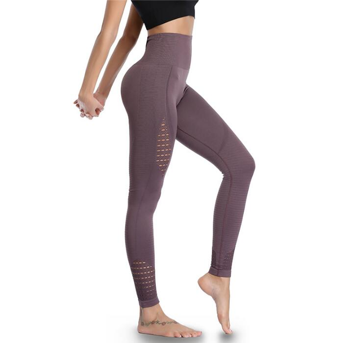 High Waist Tummy Control Slimming Seamless Sports Running Tight Trousers Yoga Pants