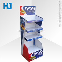 Unique design portable exhibition stand, cardboard flower plastic rack, best selling retail items