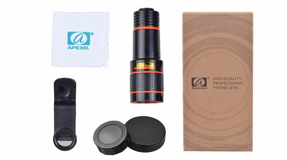 Apexel clip lens telescope lens mobile phone zoom camera