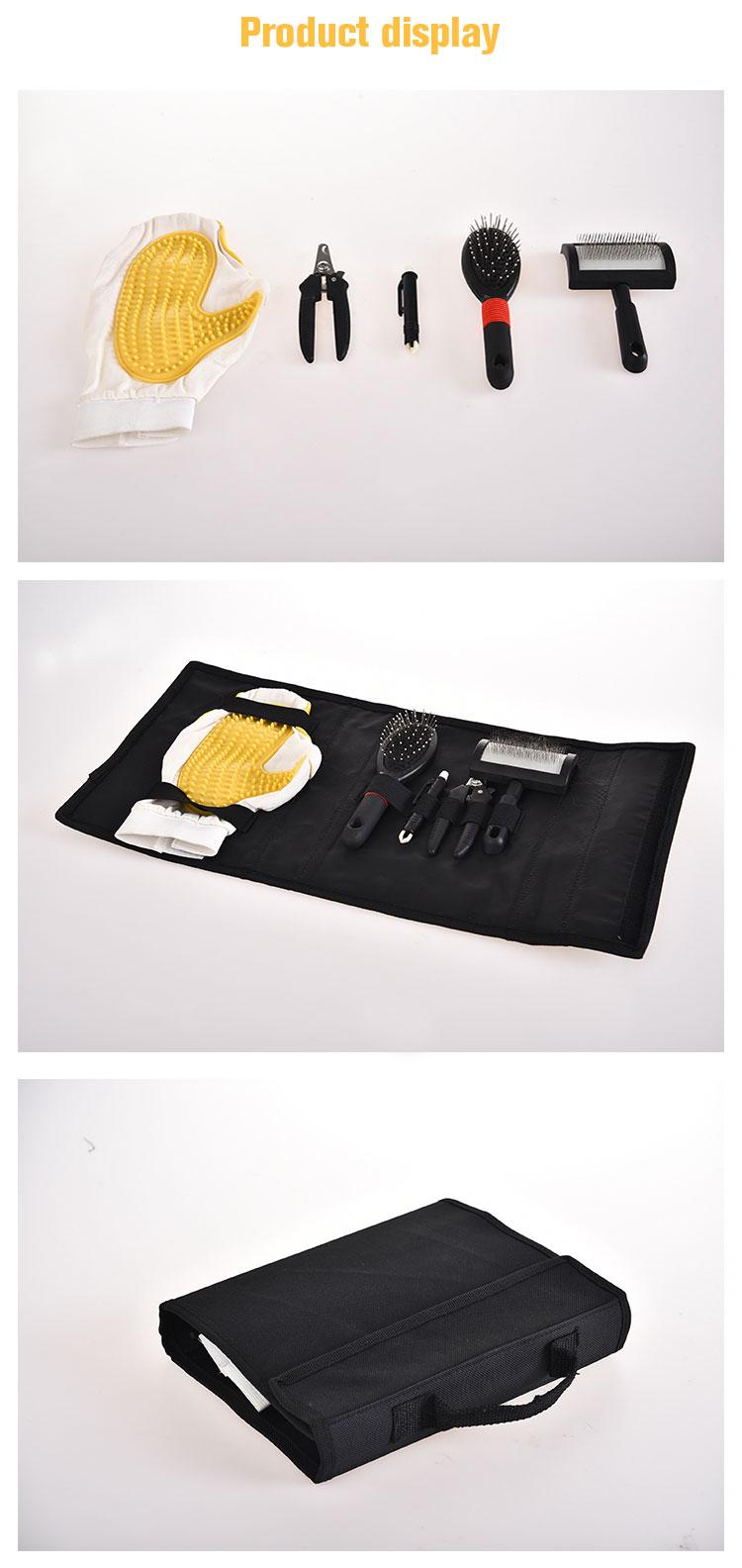 Petstar Proper Price Top Quality Dog Brush Glove Scissors Dog Grooming Kit