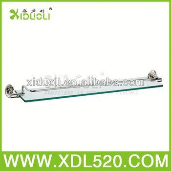 Suction Cup Bathroom Shelf/curved Glass Shelf/wall Metal Cd Racks