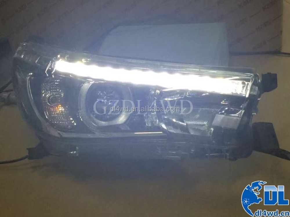 Headlights For The Car LED Head Lamp For 2015 Toyota Hilux Revo Headlight