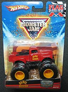 2010 Hot Wheels Monster Jam 1:64 Scale Flag Series Monster Jam Classics: Grave Digger #24/75