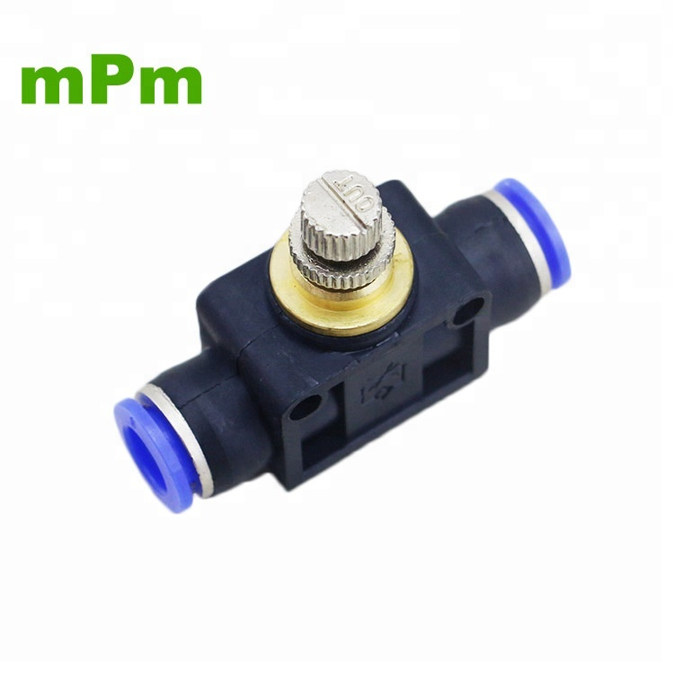 50PCS Pneumatic Plastic Air Flow Controller LSA 8MM Throttle Valve Hose Pipeline <strong>Fitting</strong>