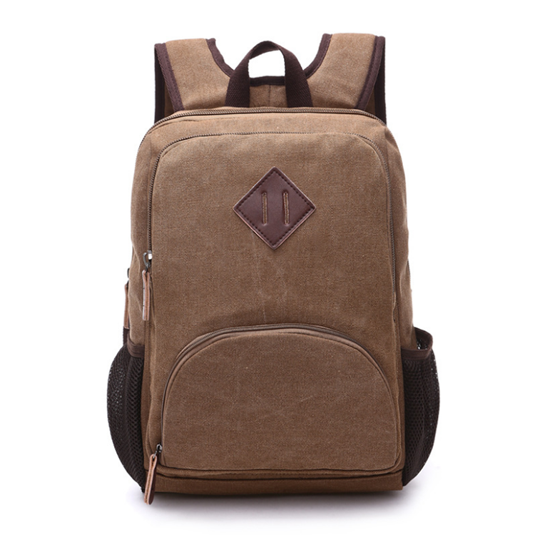 fashion korean style canvas laptop backpack rucksack for school