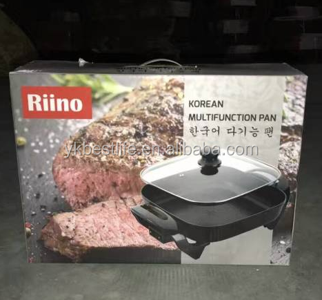 korean style square multi electric skillet