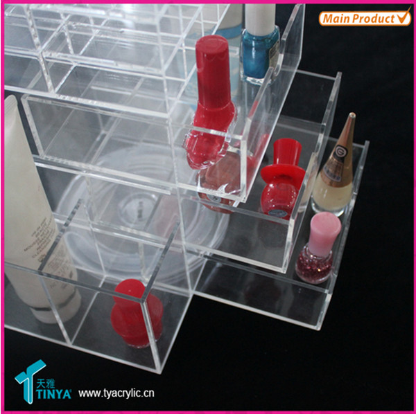 Import China Goods Custom Lip Gloss Containers, Acrylic Makeup Sets, Counter Top Acrylic Drawers Lipstick Storage organizer