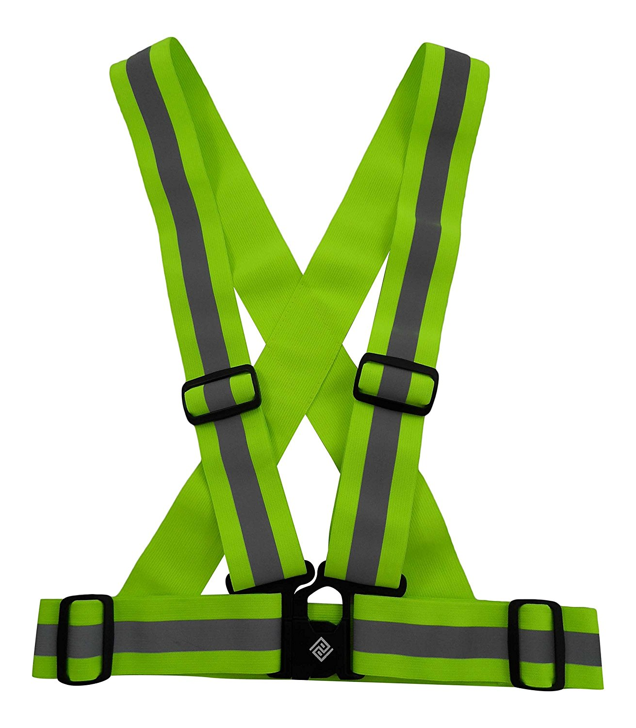 Safety Reflective Vest by Perkeen Products Belt with High Visibility Adjustable Straps for Sports, Construction Workers, Dog Walkers, Runners, Joggers, Mail Carriers, Motorcycle Riders, School Crossing Guards. 2 inch wide straps