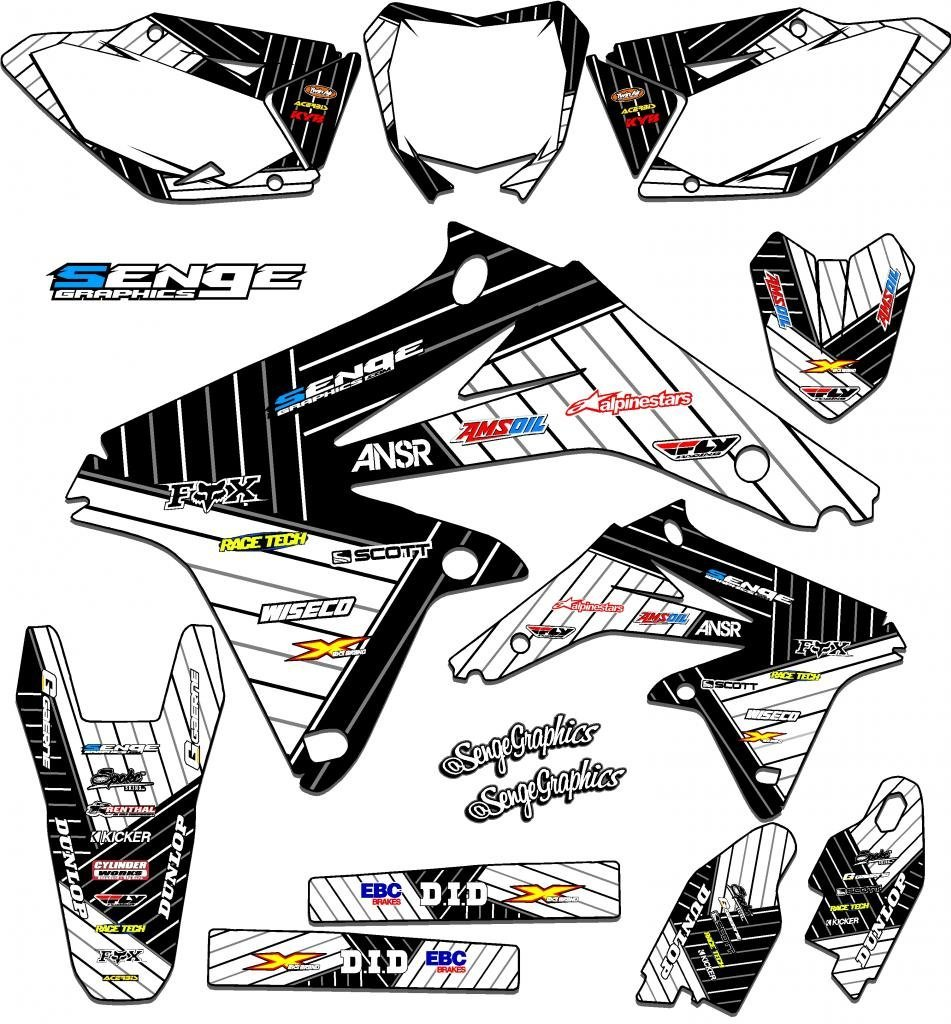 Race Series Pink Graphics Kit Motorcycle & ATV Graphic Kits Senge Graphics 1999-2000 Suzuki RM 125