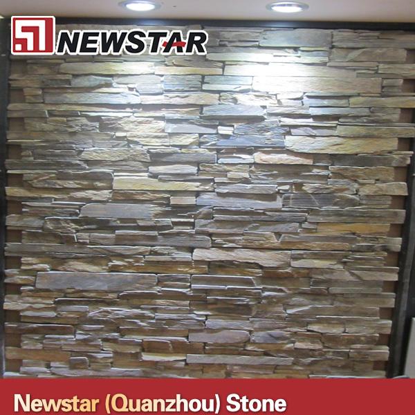 Newstar natuurlijke leisteen bakstenen muur leisteen product id 1562017918 - Leisteen muur ...