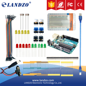 LANDZO original arduino 13 in 1 kit UNO R3 mini Breadboard LED jumper wire button arduino uno r3 as a gift arduino ph sensor