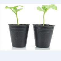 flexible pe black plastic nursery flower pots,tree pots used for farm and green house