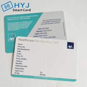 Printing Customized Design Plastic Pvc Health Care Card