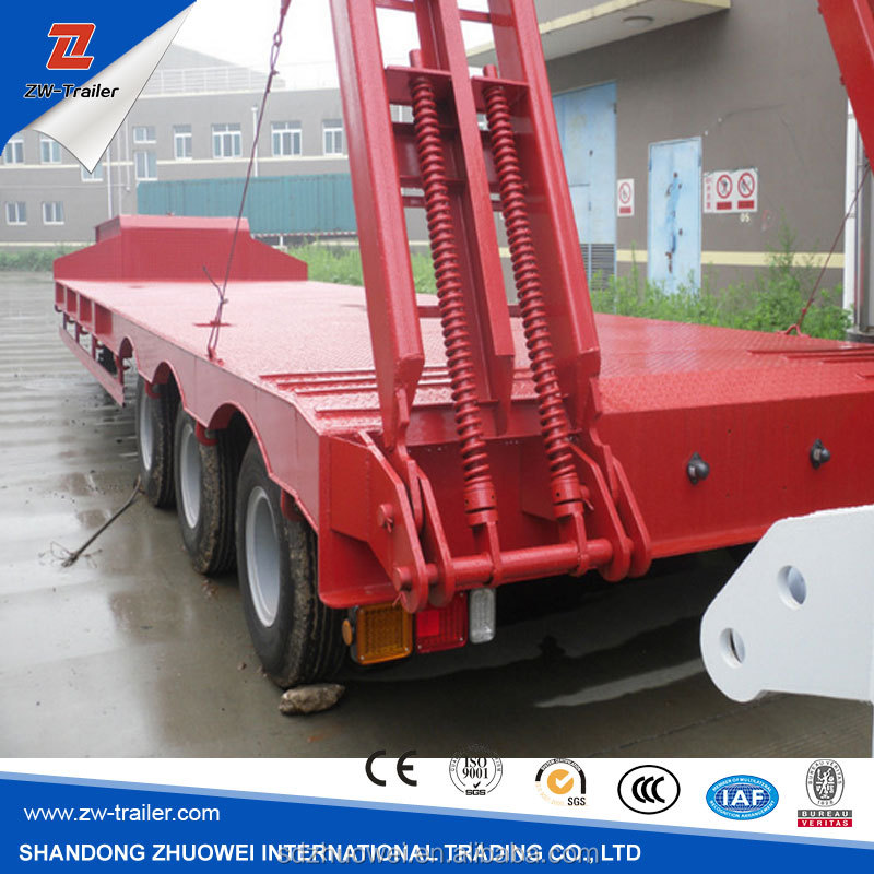 China Supplier Auto Transport 13m 3 Axle Low Bed Semi Trailer For ...
