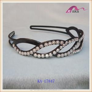 fashion design cheap price ladies rhinestone plastic headbands 6f49354d119