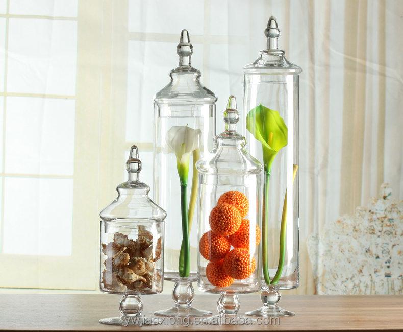 large clear glass candy jar wedding decorative glass jar. Black Bedroom Furniture Sets. Home Design Ideas