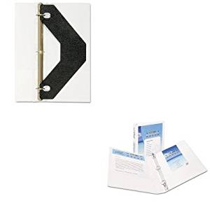 KITAVE19601AVE75225 - Value Kit - Avery Economy Showcase View Binder with Round Rings (AVE19601) and Avery Triangle Shaped Sheet Lifter for Three-Ring Binder (AVE75225)