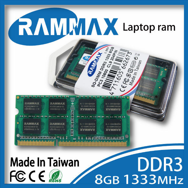 Electronics Stocks Best quility DDR3 1333MHz 8GB so-dimm ram laptop ram memory Rammax factory price