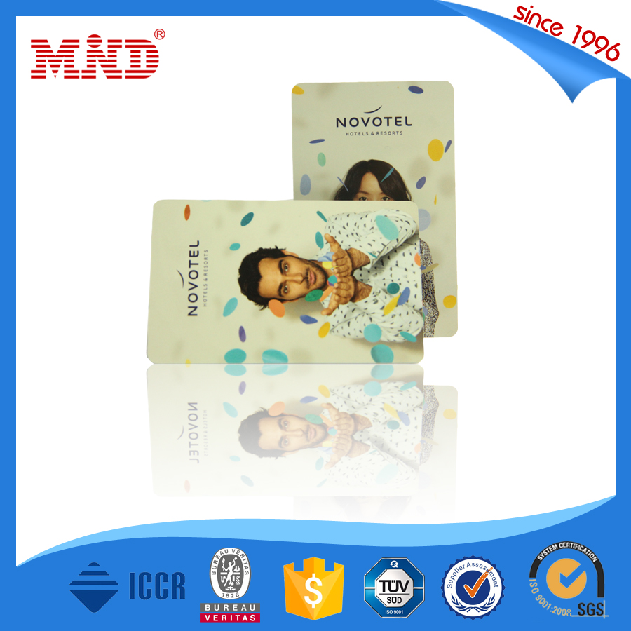 MDH347 Quick delivery CR80 LF / HF door key rfid hotel room card PVC / Paper hico loco card