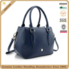 CSYH441-001 two cc handle long strap shoulder bag navy plain cow leather hand bags women